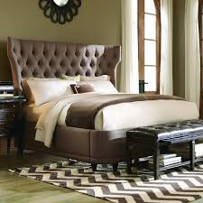Bed:Fancy Headboards Leather Wingback Headboard King Tall Tufted Wingback  Headboard Wingback Upholstered Bed Frame