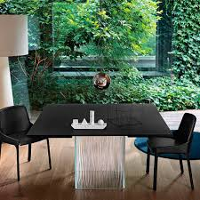 Bartoli Design Table Contemporary Table Slate Slate Base Square Rime By