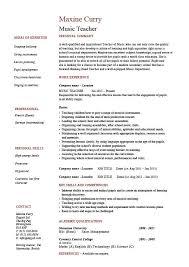 Music Resume Template Custom Music Resume Template Viawebco