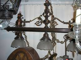 antique pool table chandelier over fifty years old