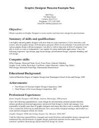 Graphic Designer Resume Objective Sample Graphic Artist Resume Objective Dadajius 8