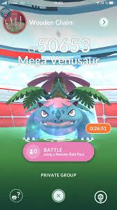 Mega Venusaur right now 7521 8767 8649 : PokemonGoRaids