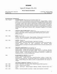 Rn Sample Resume Inspirational Endearing Postpartum Nurse Resume