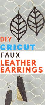 faux leather earrings tutorial