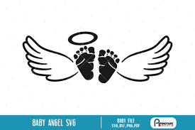 Download icon font or svg. Baby Angel Graphic By Pinoyartkreatib Creative Fabrica