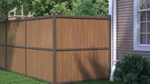 Brown vinyl privacy fence Veranda Aluminumvinyl Privacy Fencing Mills Fence Eclipse Aluminum Privacy Fencing