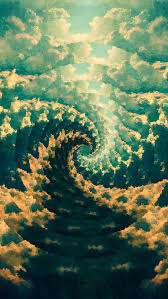 trippy melt fibonacci vortex by leif podhajsky wallpaper