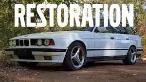 E34Restoration / Repainting Bumper 1994 BMW 525I Touring - YouTube