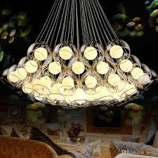 modern art glass chandelier led pendant light for living room bar ac85 265v g4 bulb hanging glass pendant lamp fixtures outdoor pendant lighting led pendant