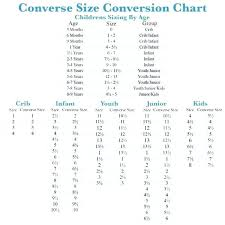 Kids Converse Size Chart Youth Elegant Shoe Coreyconner