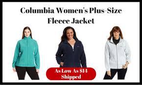 plus size columbia jackets columbia womens plus size fleece jacket as low as 14 shipped ftm