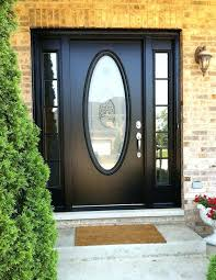 replace glass insert front door attractive a black door with large oval window is what i