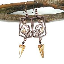 wire wrapped chandelier earrings black bells fine sterling silver and black chandelier earrings wire wrapped how