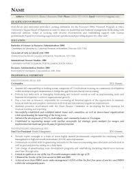 Resume Format For Arts Graduate Cna Resume Objective Examples