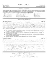 Project Engineer Job Description Resume Template Ideas