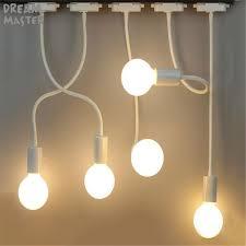 ceiling track lighting systems. Black White LED Hose Track Lights E27 Lamp Holder Long Rod Bending Light Clothing Stores Background Ceiling Lighting Systems