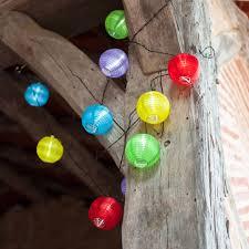 10 Multi Coloured LED Chinese Lanterns Solar Fairy Lights  Solar Chinese Lantern Solar Lights