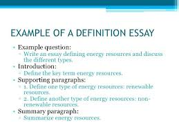 Example Of Definition Essay Topics Definition Essay Topics College Good Introduction Example On