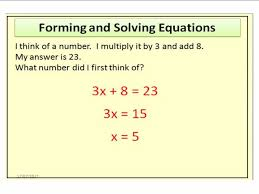 forming and solving equations worded questions i think of a number by pncullen1984 teaching resources tes