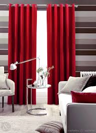 contemporary burgundy curtain for living room ideas with wine red tone  perfect for bright theme as like white or light grey for the room setting