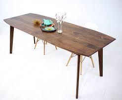 round mid century dining table