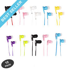 JustJamz <b>Earbuds In-Ear 3.5mm Stereo</b> - 10 pack