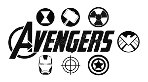 Set Of Avengers Logo And Super Heroes Icons Marvel Studios