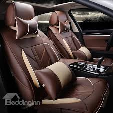 62 high grade charming design pu leatherette material universal five car seat covers