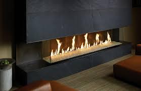 davinci bay window linear gas fireplace