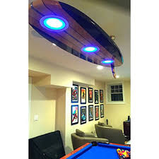 Surfboard Ceiling Light for Game Rooms Man caves Bars Billiards