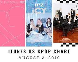 Itunes Us Itunes Kpop Chart August 2nd 2019 2019 08 02