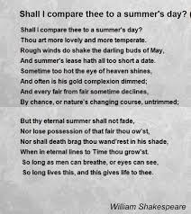 shall i compare thee to a summer s day sonnet poem by shall i compare thee to a summer s day sonnet 18 poem by william shakespeare poem hunter