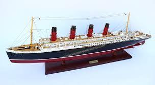 Rc Titanic Sinking With Lights Handcrafted Rms Lusitania Model Ship Ready To Display