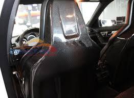 carbon fiber seat cover seat s 1pair for mercedes benz w204 c63 amg m148