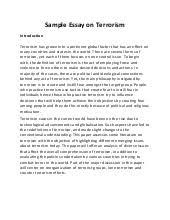 essays on terrorism international  wwwgxartorg terrorism essay
