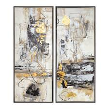 Abstract artwork pictures Contemporary Art Uttermost Life Scenes Abstract Art Set Of Two Nautilus Science Connected Uttermost Life Scenes Abstract Art Set Of Two 51302 Bellacor