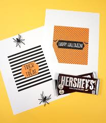 Give the gift of chocolate this valentine's day with these free printable valentine candy bar wrappers. Free Printable Halloween Candy Bar Wrappers Happiness Is Homemade