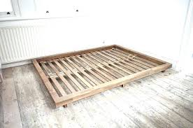 Wood Bed Frame Queen West Elm Philippines Wooden With Drawers Low To ...
