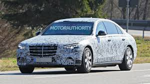 It's the stately sedan that's better to be driven around in than to drive yourself. 2021 Mercedes Benz S Class Guard Spy Shots
