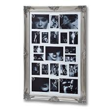 large antique silver ornate multi photo frame
