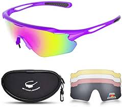 Cycling Glasses with 5 Lenses, UV400 Polarized ... - Amazon.com