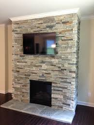 Captivating Cultured Stone Around Fireplace Photo Decoration Inspiration