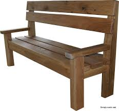 Small Picture Rustic Oak Large Contemporary Garden Bench Simply Rustic Oak