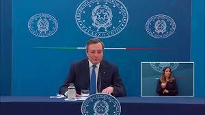 Palazzo Chigi - Presidenza del Consiglio dei Ministri - Conferenza stampa  del Presidente Draghi