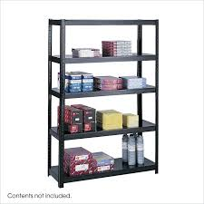 details about safco 48 wide boltless shelving metal black 4 shelf transitional storage unit