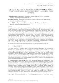 What Is Information Systems Analysis And Design Pdf Development Of A Situated Information Systems Analysis