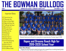 News Letters Home Newsletters Bowman High School