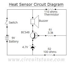 heat sensor circuit diagram circuitstune circuit diagram of heat sensor