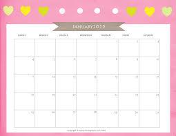 Cute January 2015 Calendar Printable