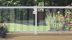 beautiful deck to glass deck railing